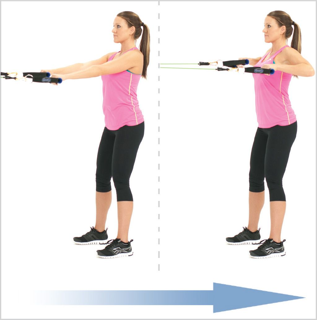 Exercise Bands High Row From A Mid Anchor
