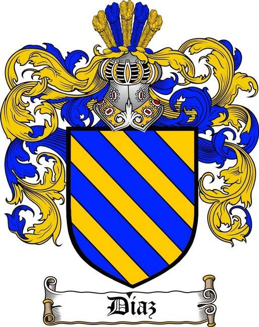 Diaz Coat Of Arms Diaz Family Crest Escudo De Armas Apellidos Escudo De Armas Escudo De La Familia