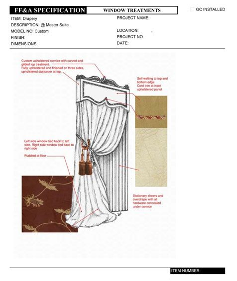 NCIDQ Interior Design Fundamentals Example Window Treatment Specification