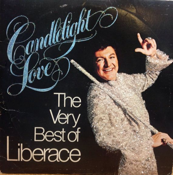 Glittered Vintage Liberace Candlelight Love The Very Best Of Liberace Vinyl Record Album on Etsy, $75.00