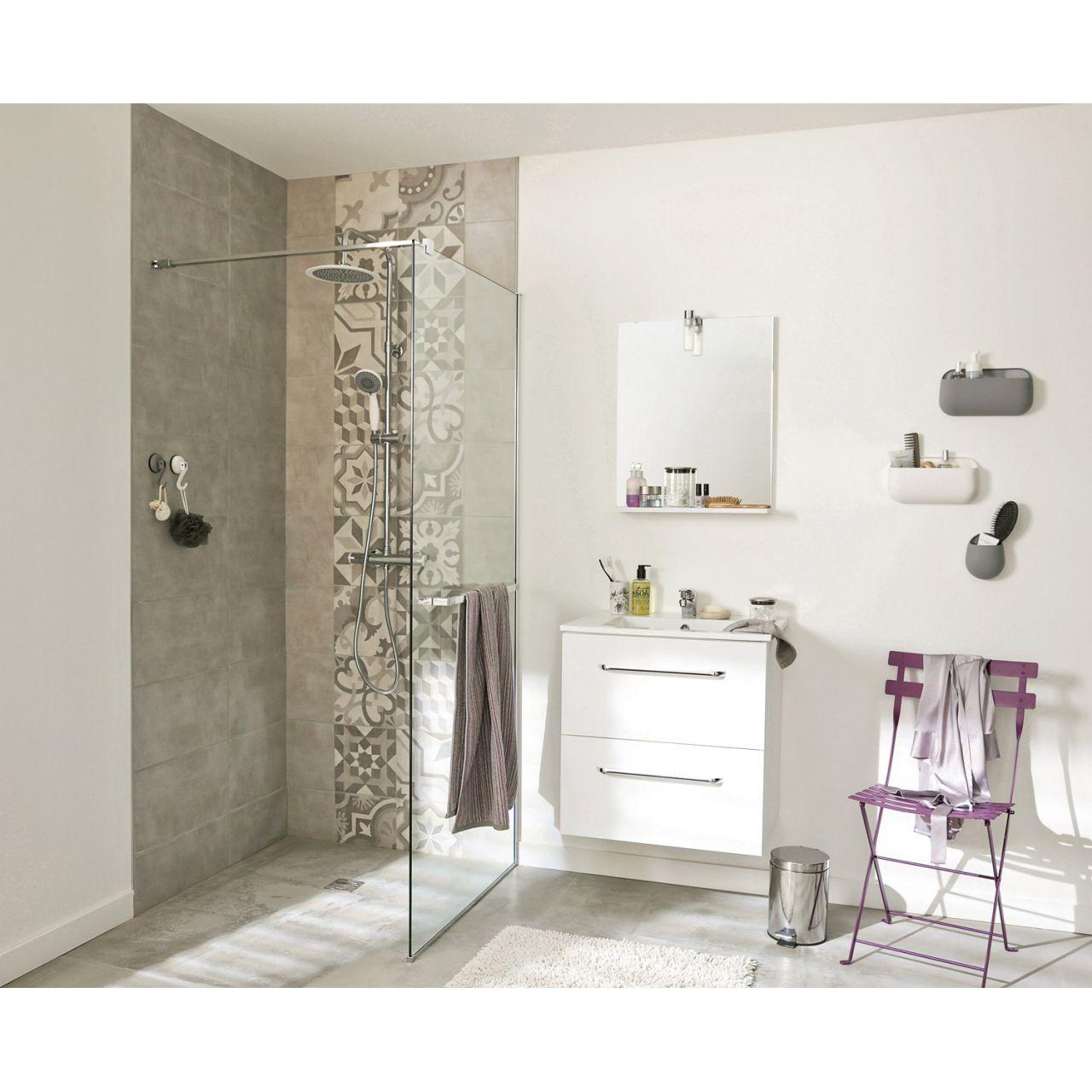 Achat carrelage pour la salle de bains carrelage seattle - Faience salle de bain blanche ...