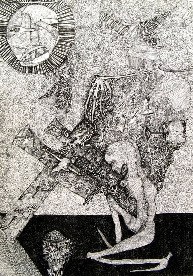 The amazingly highly detailed works of Nick Blinko, in RV 17. http://rawvision.com/articles/nick-blinko-devil-detail