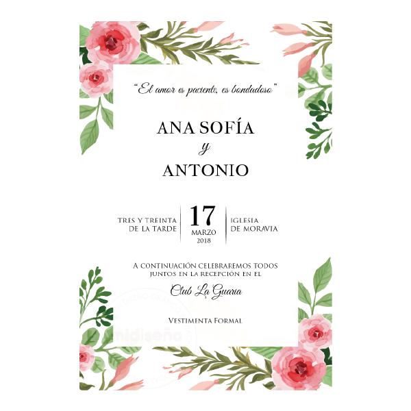 Invitaciones Florales & Botánicas - Invitaciones Mi Diseño ...