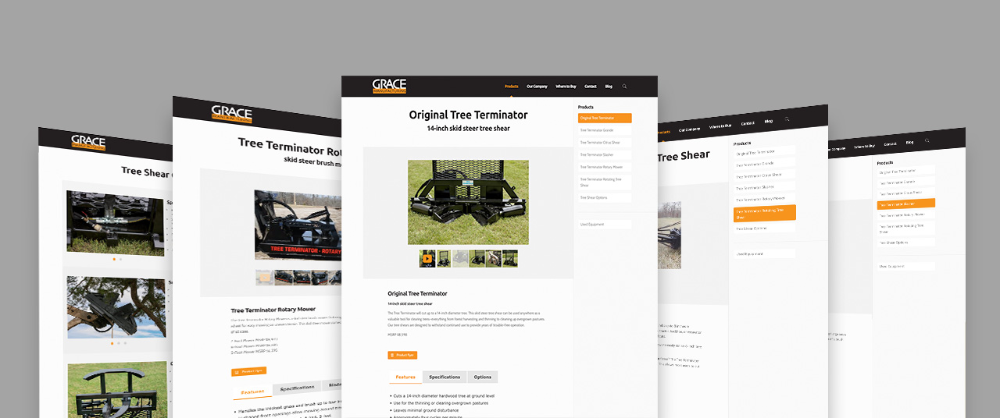 Website Design For Heavy Duty Equipment Manufacturer Grace Manufacturing By Kettle Fire Creative Tag In 2020 Website Design Wordpress Web Design News Website Design