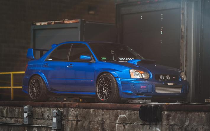 Download Wallpapers Subaru Impreza Wrx Sti 4k Stance Blue