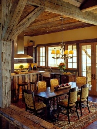 barn wood ceiling and beams