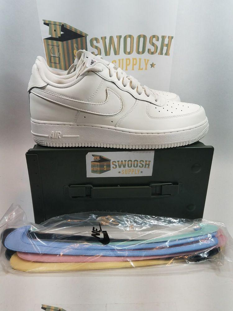 Nike Air Force 1 07 Qs Sail Sz 10 Swoosh Pack Sail Off White Ah8462 101 Nike Air Force Nike Nike Af1