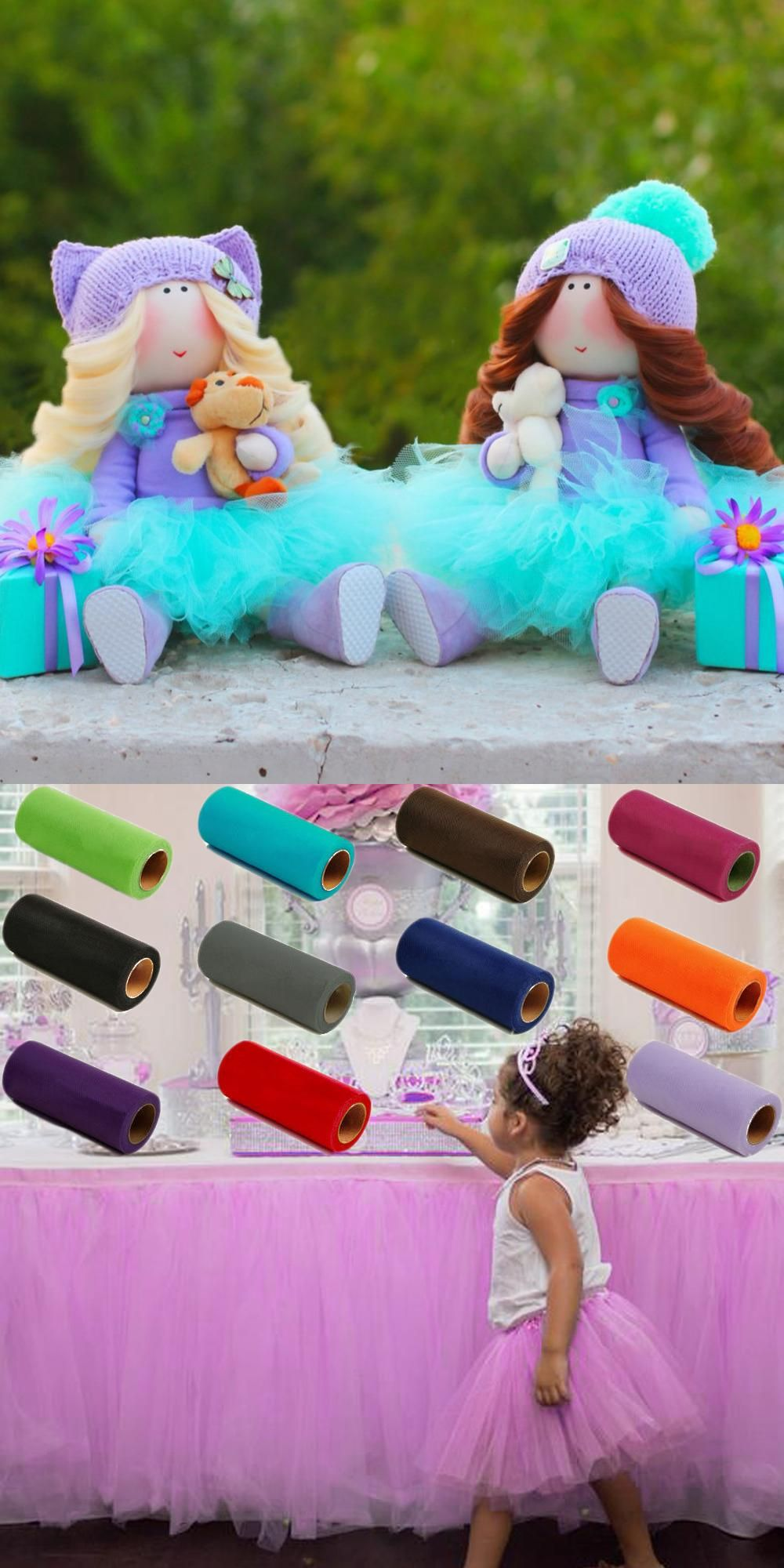 Wedding decorations using tulle  Visit to Buy Pick Color Matt TULLE Roll Spool inch x yard inch