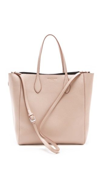 Rochas Textured Edge Tote in Pastel Pink. Super-soft 4034ba2a059ff