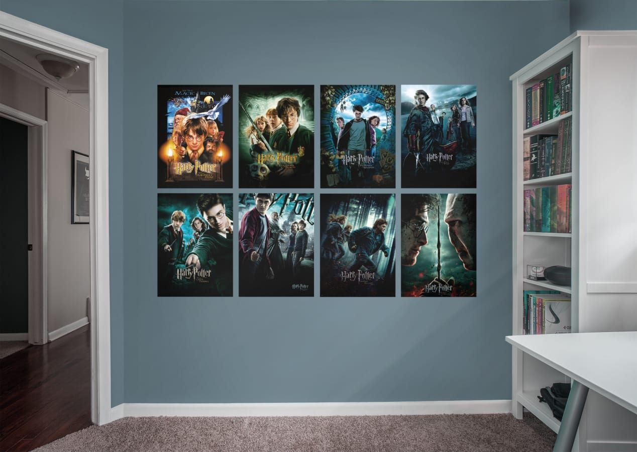 Harry Potter Movie Poster Collection Harry Potter Movie Posters Movie Poster Wall Movie Room Decor