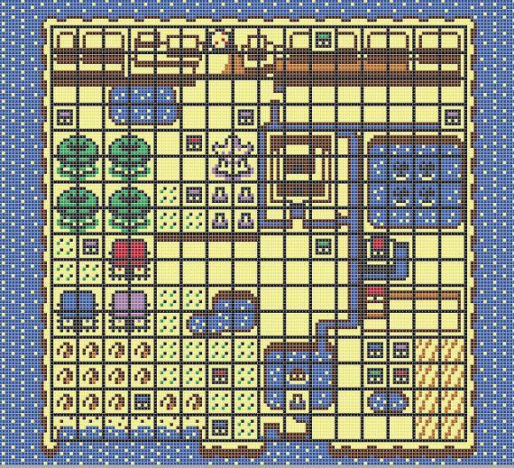 Koholint Island Pattern For Cross Stitch Color The Legend