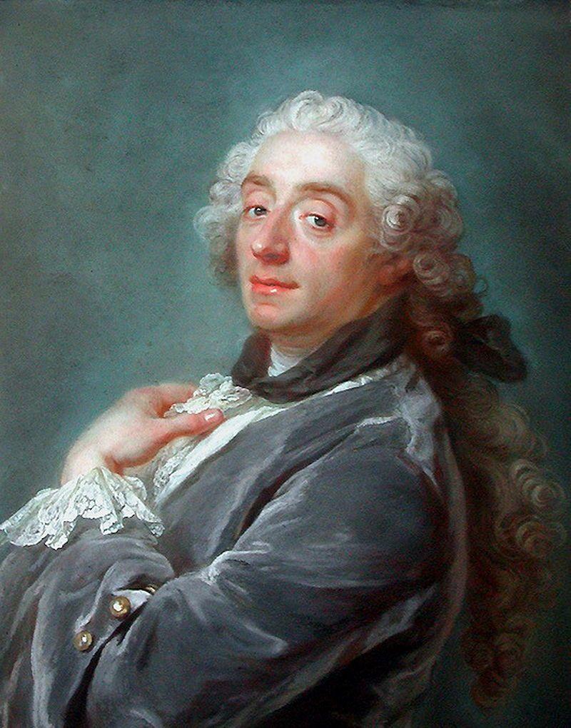 Retrato de François Boucher,obra de Gustav Lundberg, (1741).