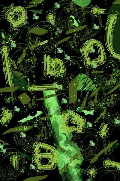 'Frühling - Abstraktes  in grün  ' von Chris Berger bei artflakes.com als Poster oder Kunstdruck $7.01