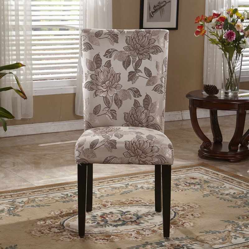 Bellasario Collection Elegant Floral Parsons Upholstered ...