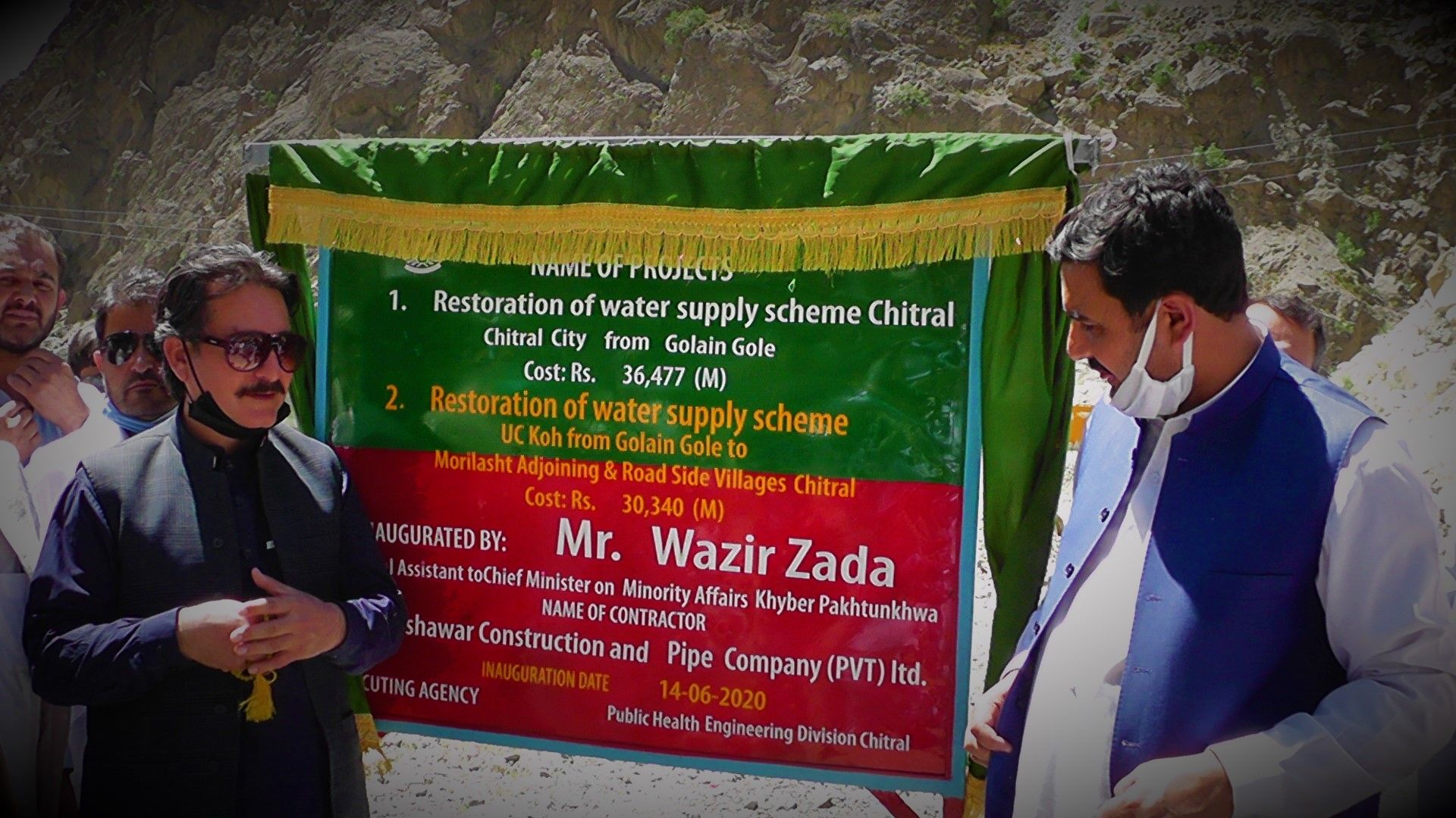 Golen Water supply scheme rehabilitation work inaugurated after one year