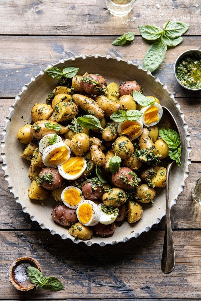 Pesto Potato Salad. #potatosalad