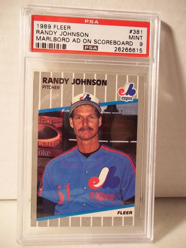 1989 fleer randy johnson rc psa mint 9 baseball card 381
