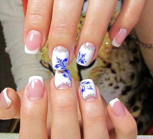 Two-colors Nail Design | Color nails, Moon nails and Sns nails