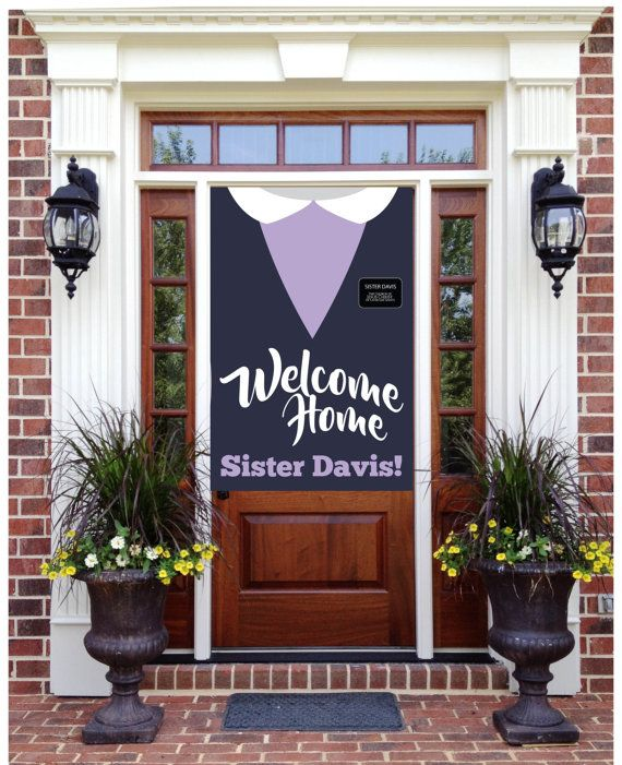 Welcome Home Printable Sister Missionary Banner, Sign, LDS Return Missionary #glassrepair