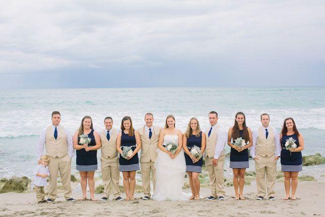 Beach Wedding Bridesmaids Formal Navy Blue Dresses Bridesmaid Pinterest And