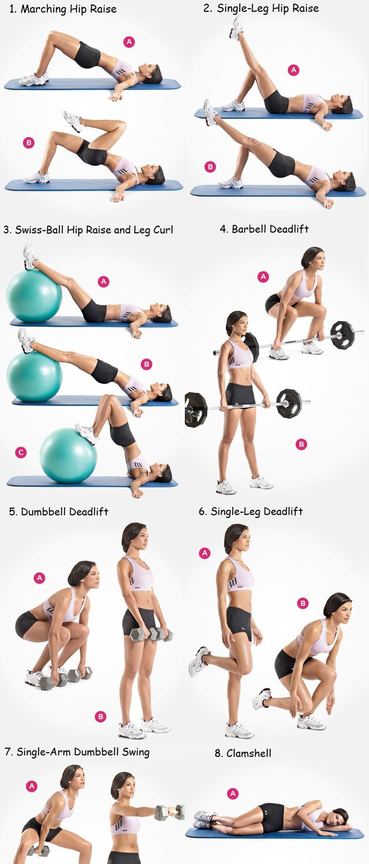B4tea: Exercises to fast reduce hips and thighs in women