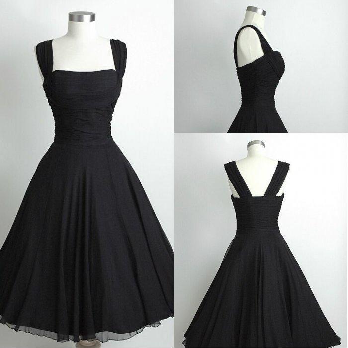 Short Black Chiffon Party Dress Prom Party Dresses Chiffon Party Dress Cheap Bridesmaid Dresses