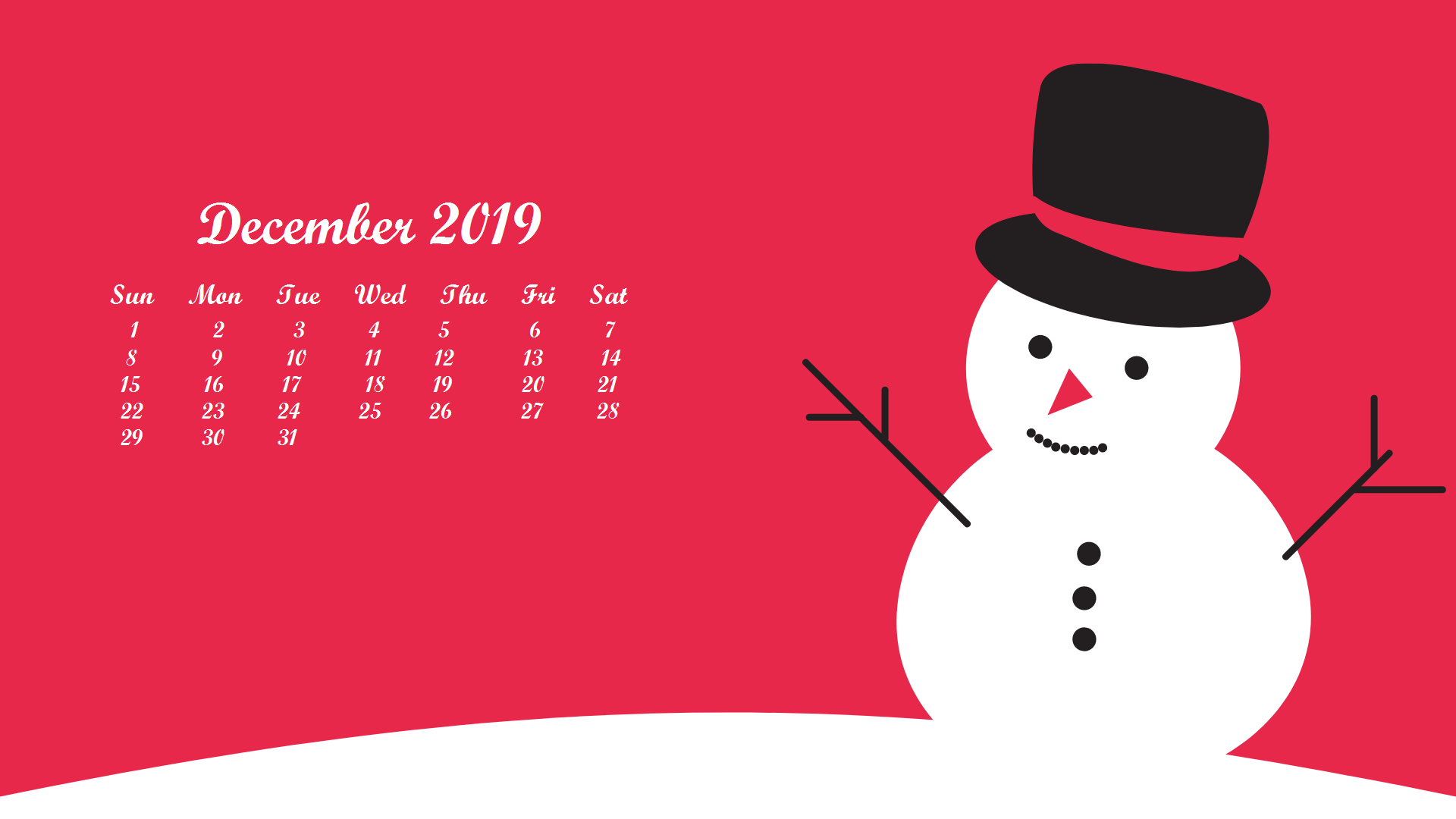 December 2019 Calendar Wallpaper Desktop December 2019 Desktop Wallpaper With Calendar | Desk Calendar in