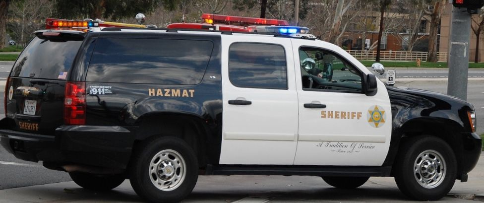 Los Angeles County Ca Sheriff Hazmat Chevy Suburban 2500 Commercial Vehicle Police Cars Emergency Vehicles