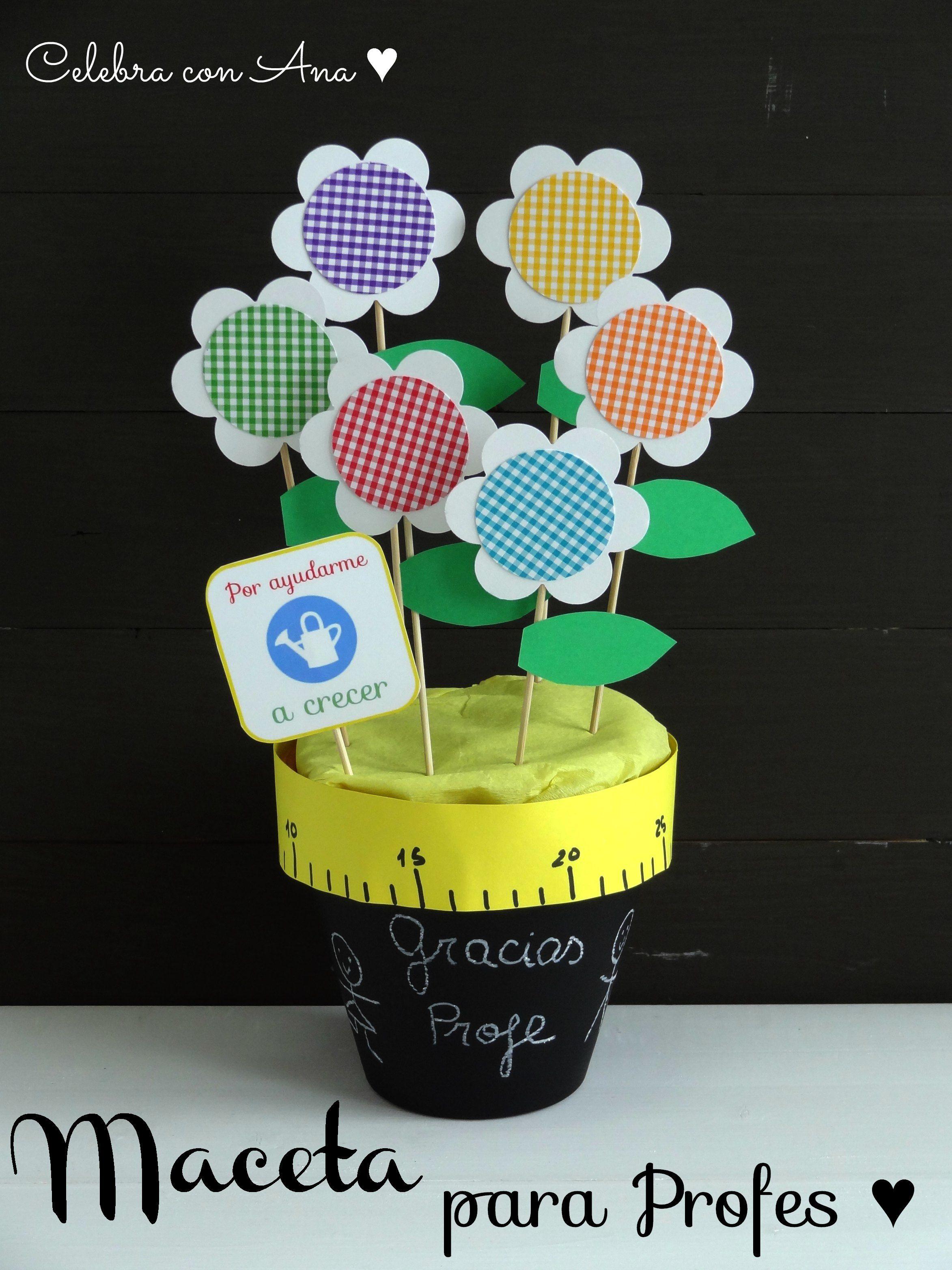 Maceta de flores de cartulina | Maestros | Pinterest