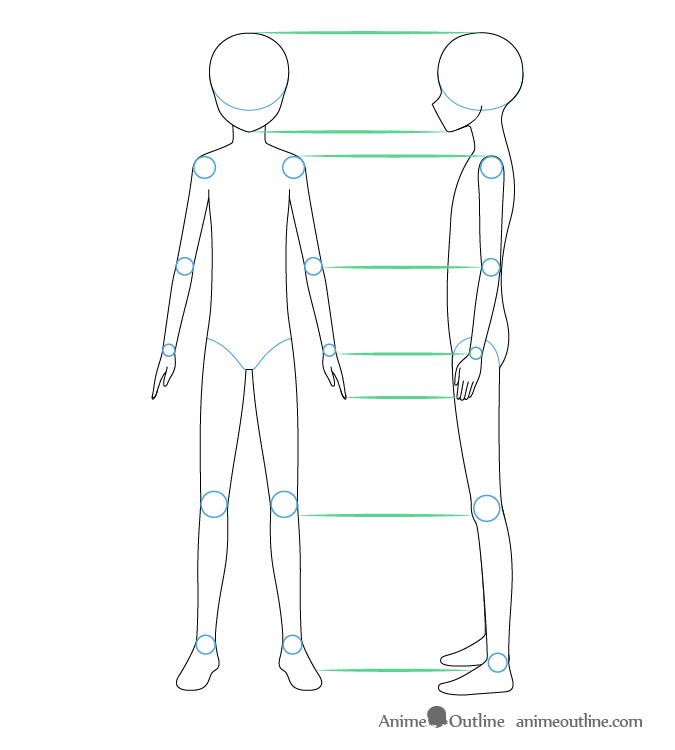 Anime Boy Front And Side View Drawing Cute Little Drawings Drawing Anime Bodies Body Reference Drawing