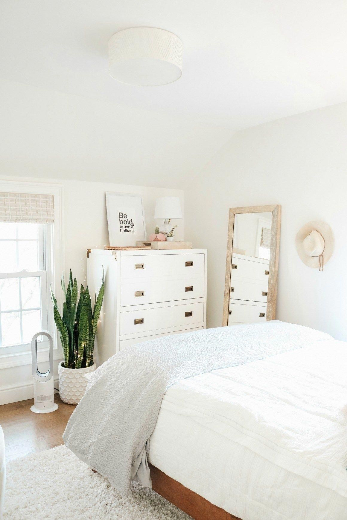 Small Girls Bedroom Makeover with Wallpaper Accent Wall - Nesting With Grace