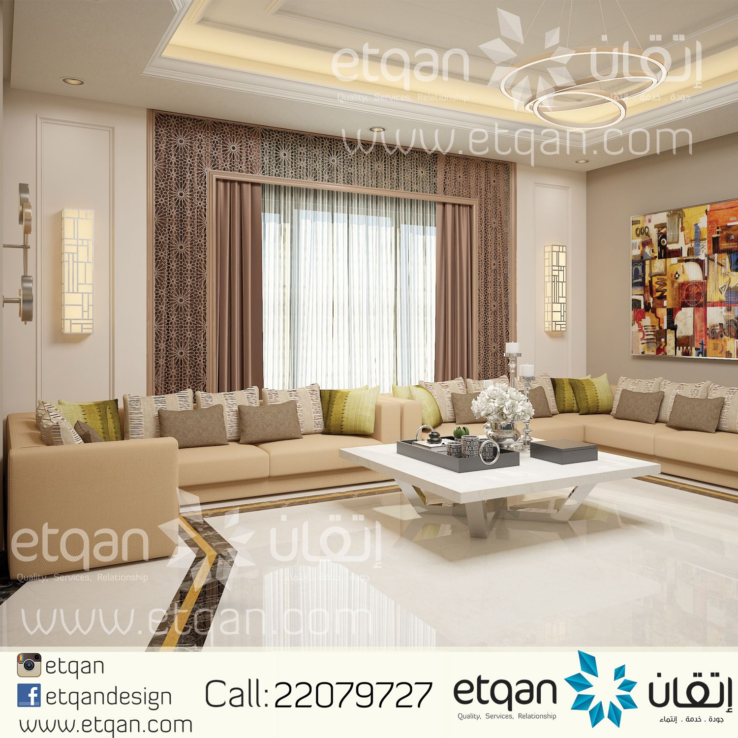 You can have a look at our lavish women majlis designs in the gallery -  Interior Design For Men Majlis With