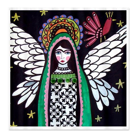Mexican Folk Art Shower Curtains