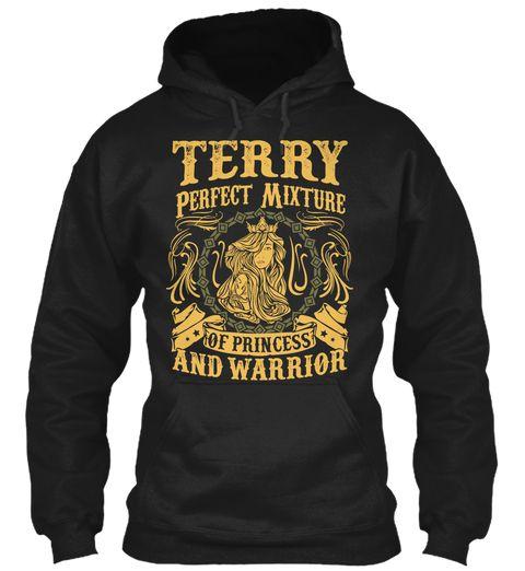 Terry Pefect Mixture Of Princess Black Sweatshirt Front