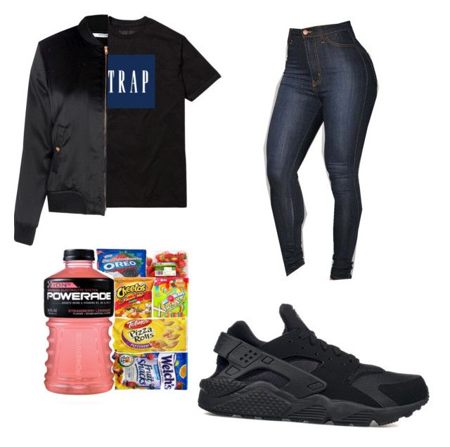 """Untitled #19"" by laylaysavage on Polyvore featuring Glamorous and NIKE"