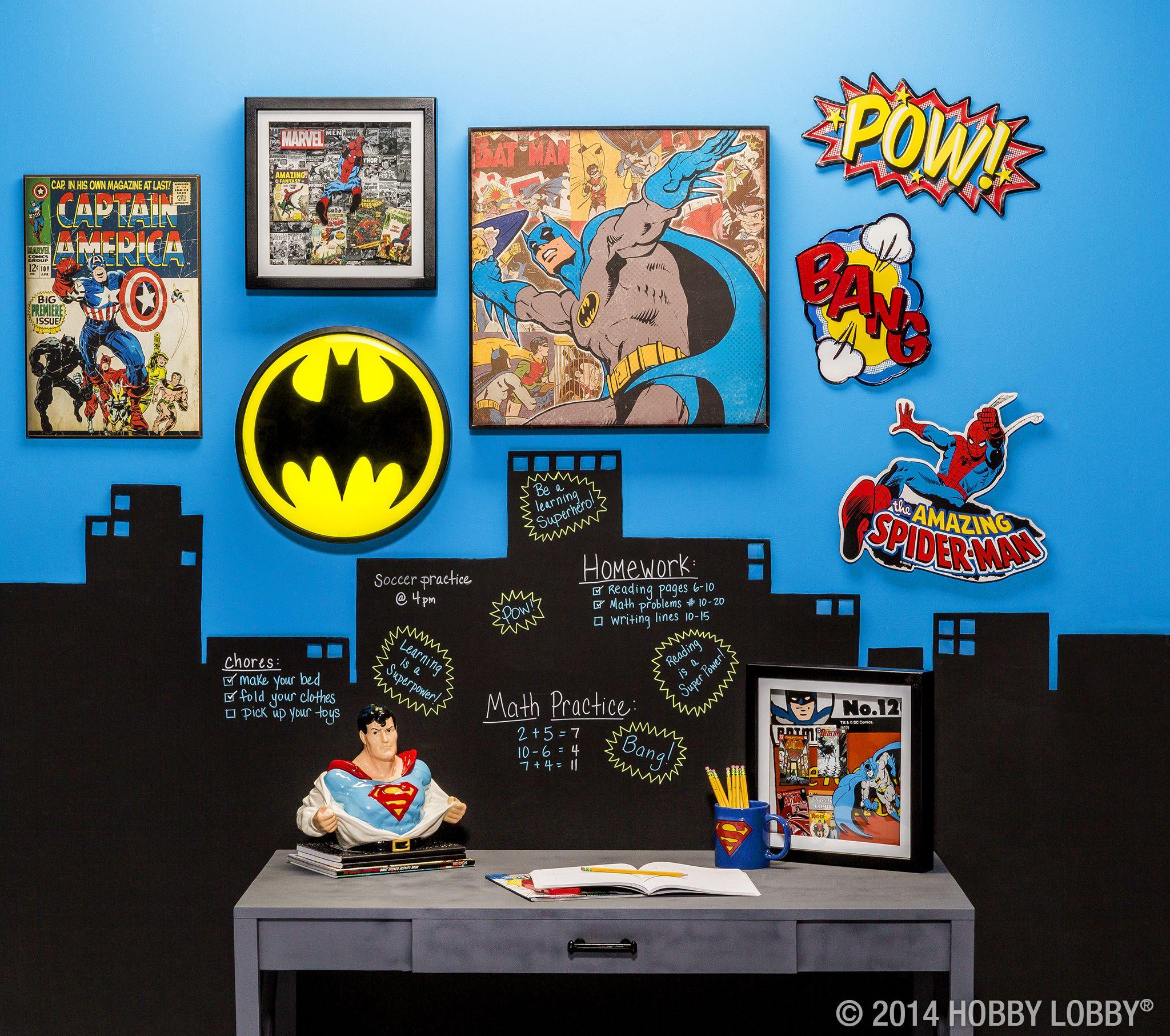 Superhero Home Accents Shop Hobby Lobby Superhero Room Batman Room Boys Bedroom Decor