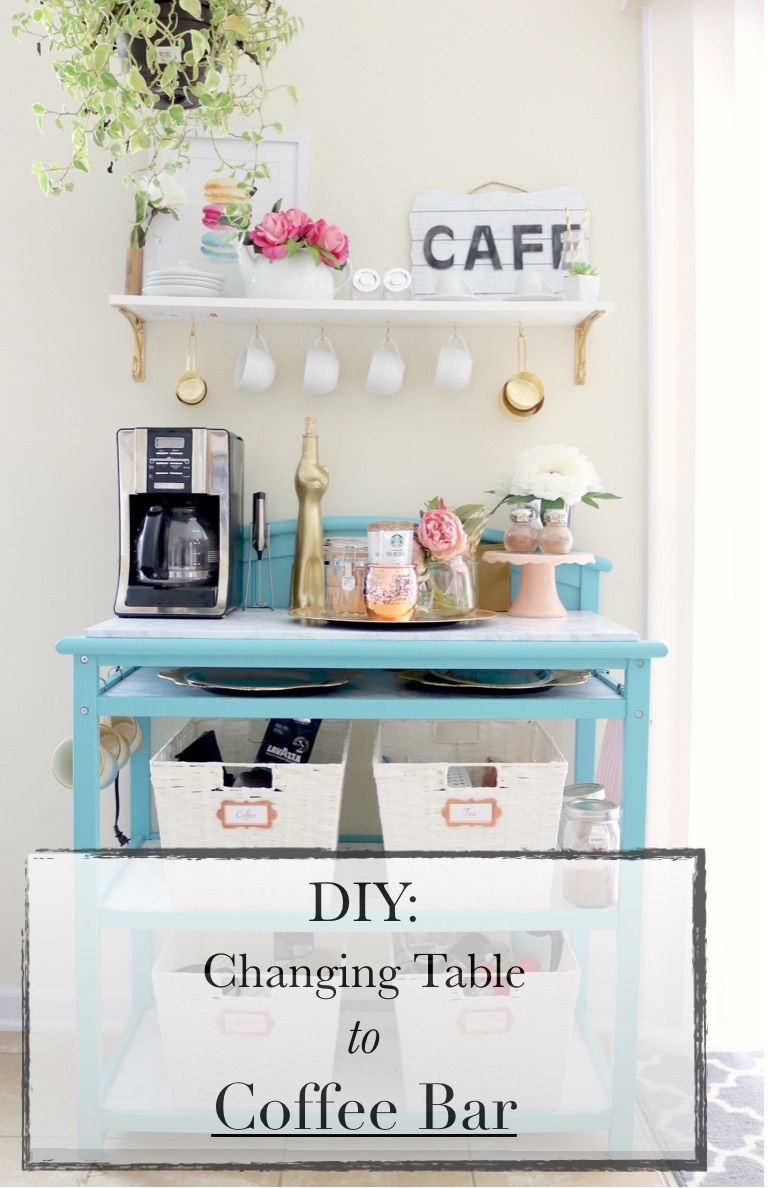 Diy Changing Table Repurpose To Coffee Bar Diy Changing Table