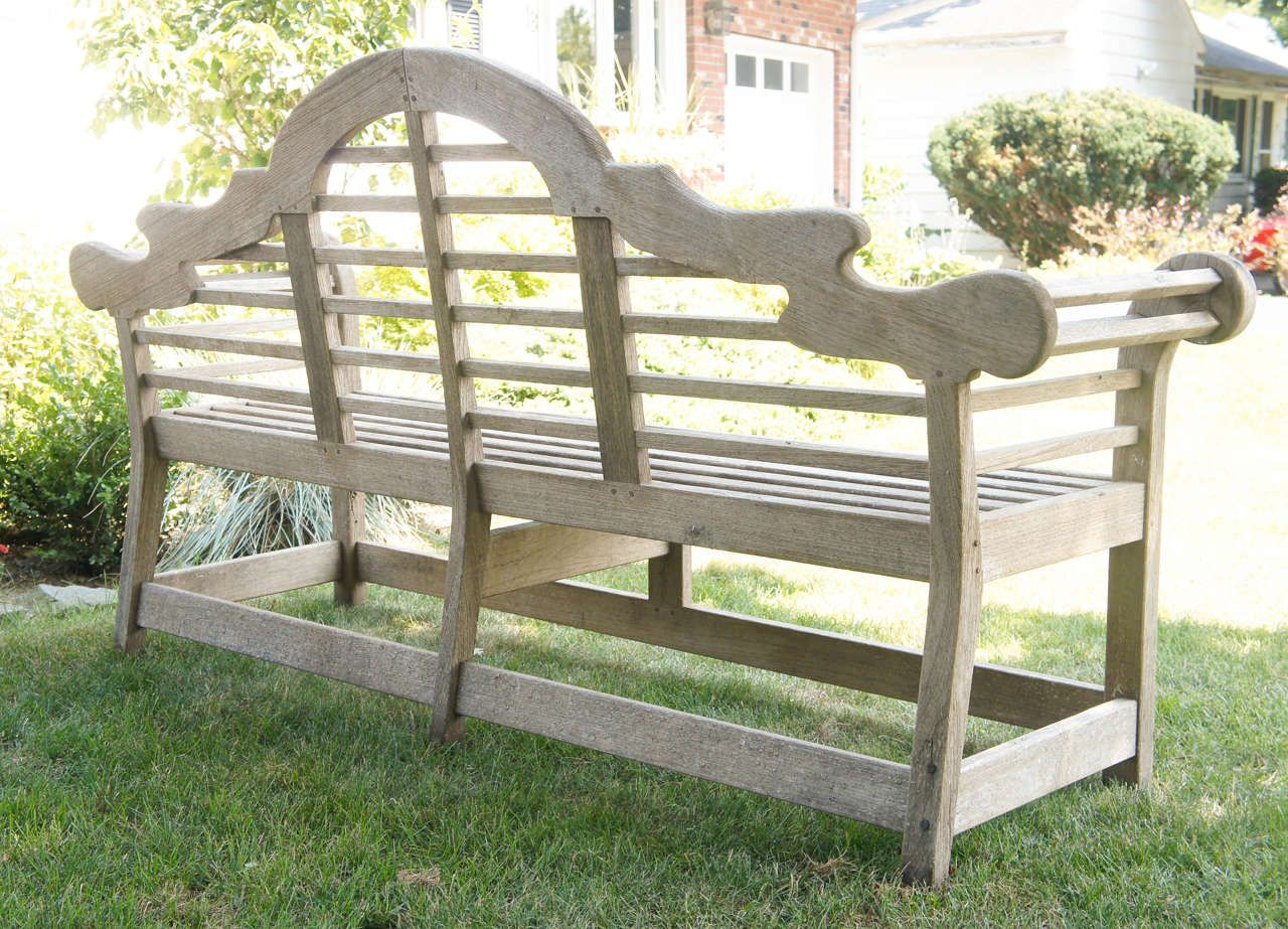Fine English Vintage Lutyens Bench In Teak