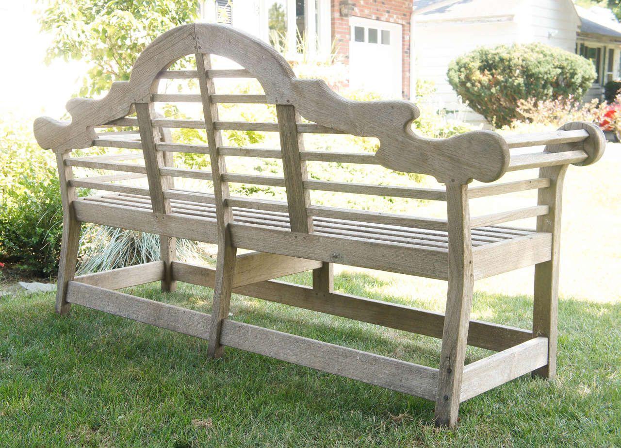 Fine English Vintage Lutyens Bench Made In Teak Furniture Lutyens Bench Teak