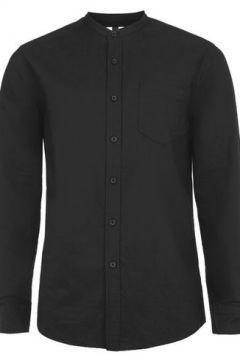 Lässiges langärmeliges Oxfordhemd mit Stehkragen schwarz #modasto #giyim #erkek https://modasto.com/topman/erkek/br40936ct59