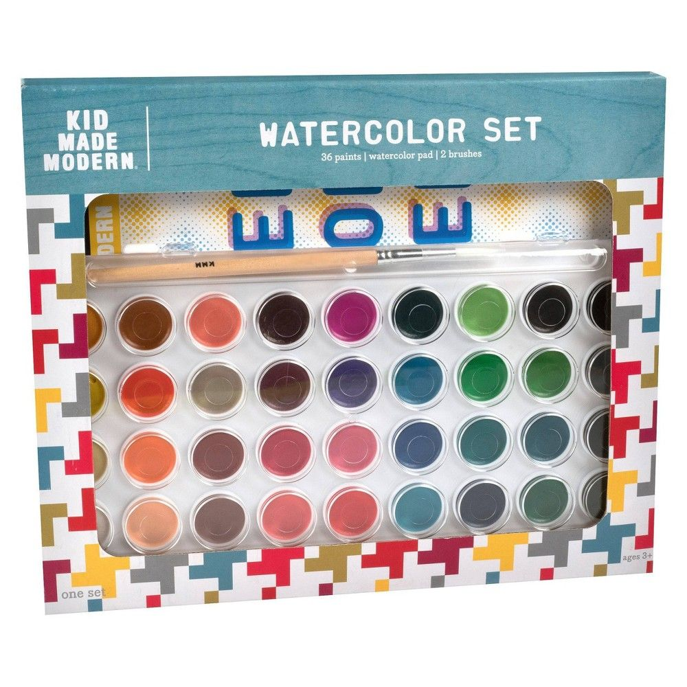 Kid Made Modern 36ct Watercolor Paint Set In 2020 Watercolor Paint Set Watercolor Kit Paint Set
