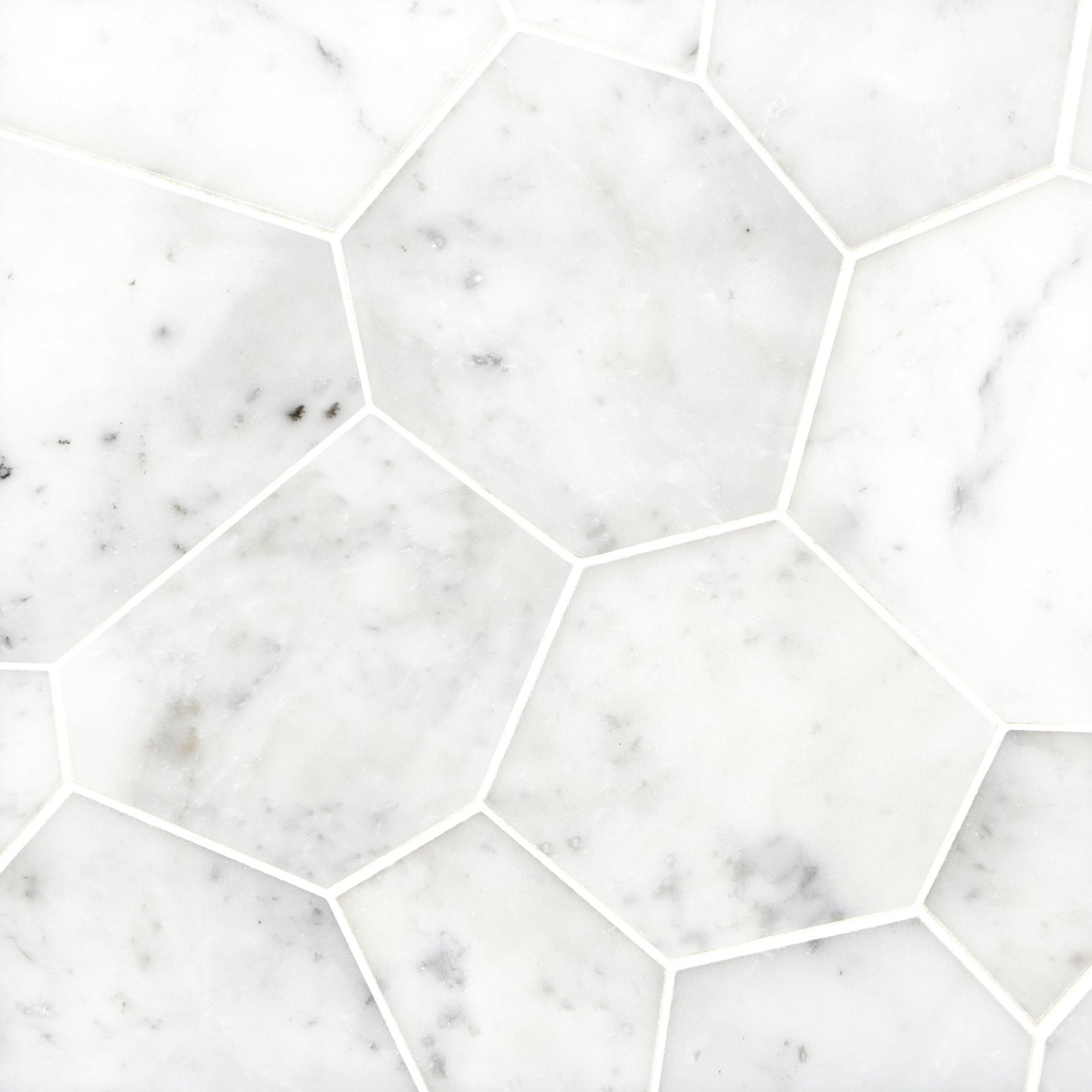 Carrara White Flagstone Polished Marble Tile Polished Marble Tiles Marble Tile Flagstone Tile