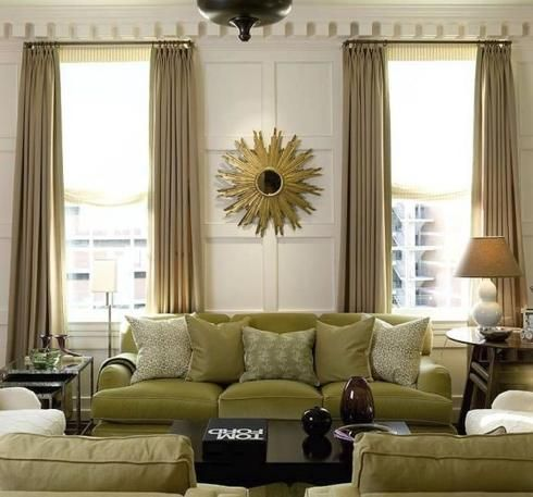 Choosing the Right Curtain Colours to Match a Green Sofa ...