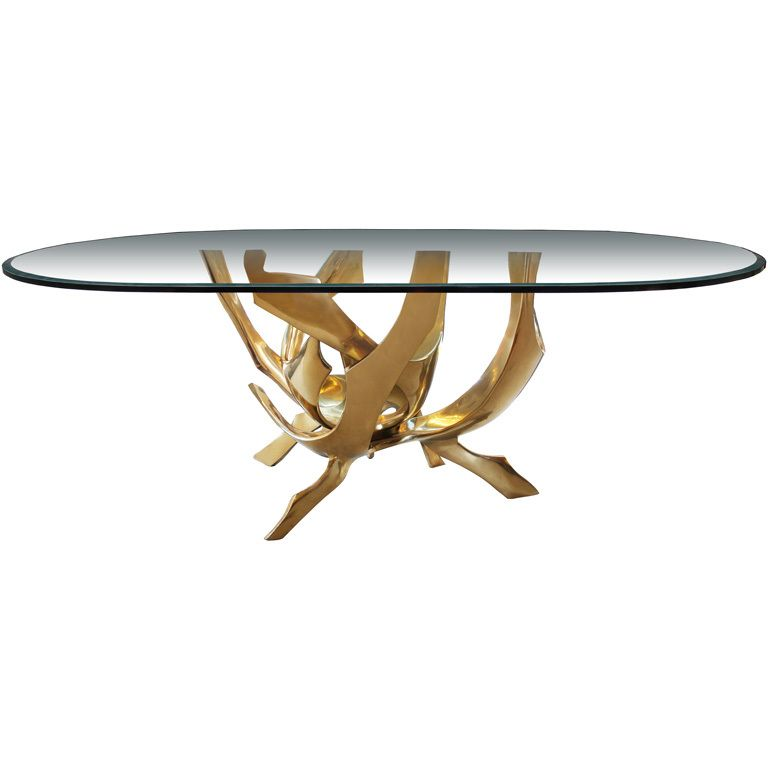 Round Dining Table Base For Sale Room Bases Metal Glass Signed Abstract  Bronze