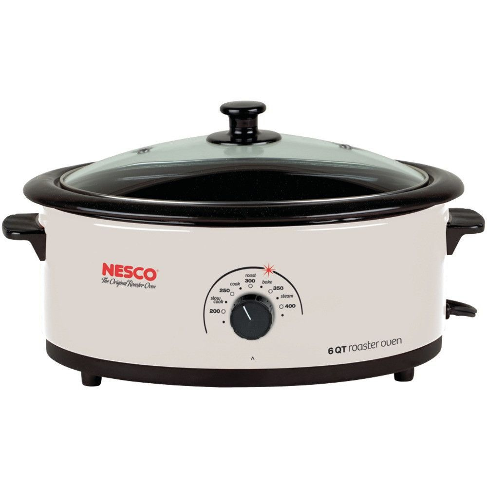 Nesco 6 Quart Nonstick Roaster Oven (ivory) Add A Small Dependable Portable  Oven