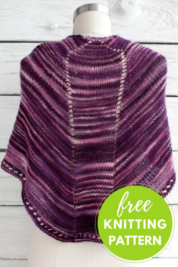 Fácil Shawl Free Knitting Pattern | Shawl, Knitting patterns and ...