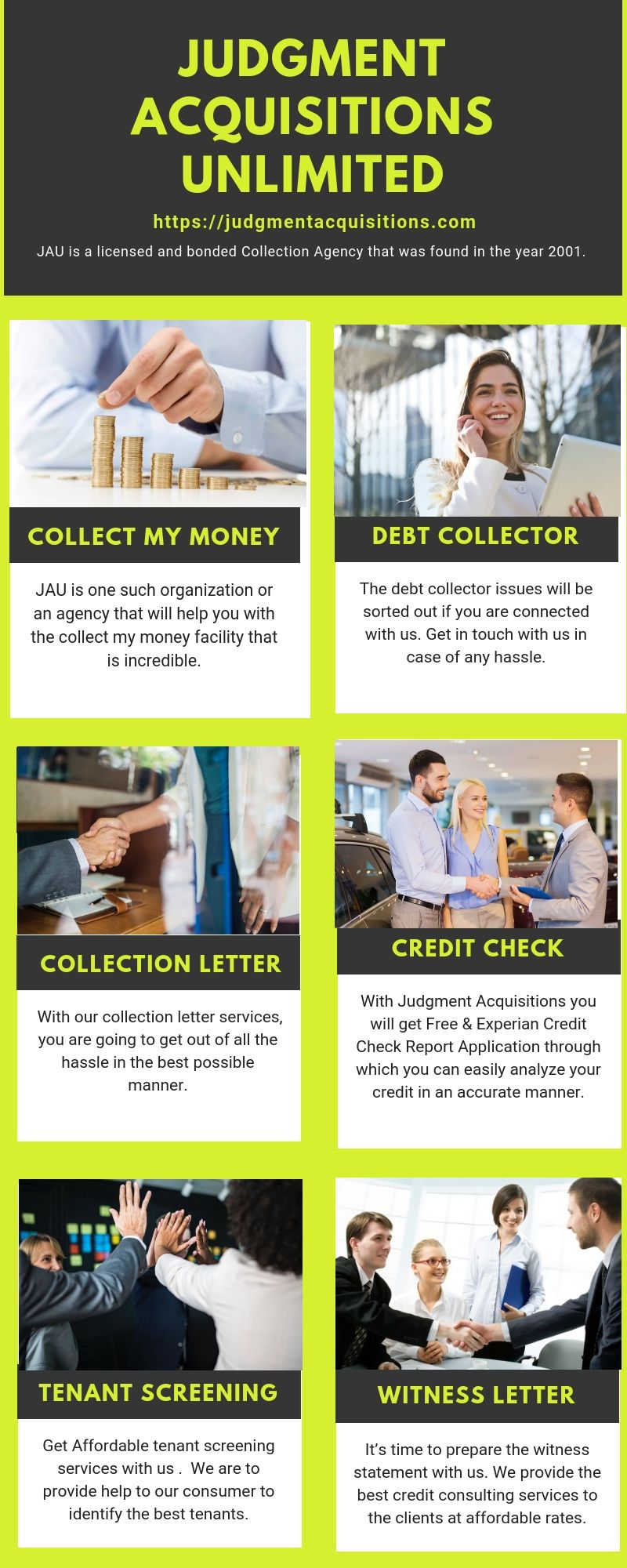 Looking for the best collection agency? JAU is one of the