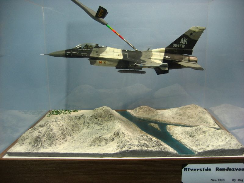 F-16c in-air refuelling 1/48 Scale Model Diorama