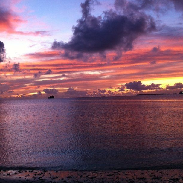South Pacific Beaches: Sunset At The Majuro, Marshall Islands