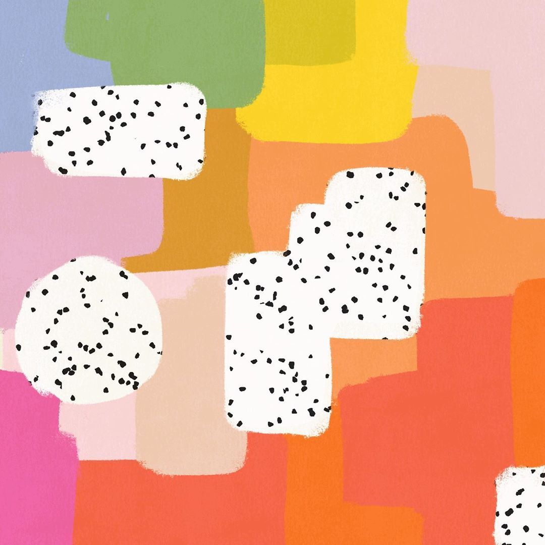 """patterns + illustrations on Instagram """"colour therapy"""